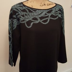 St.John Collection Knit Top, Size L.